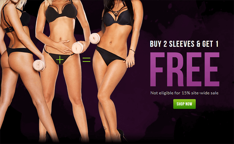 Buy 2 Fleshlight Sleeves and Get 1 Free