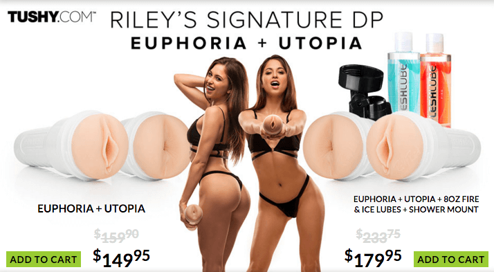 Fleshlight Girl Riley Reid Utopia and Euphoria Combo Pack