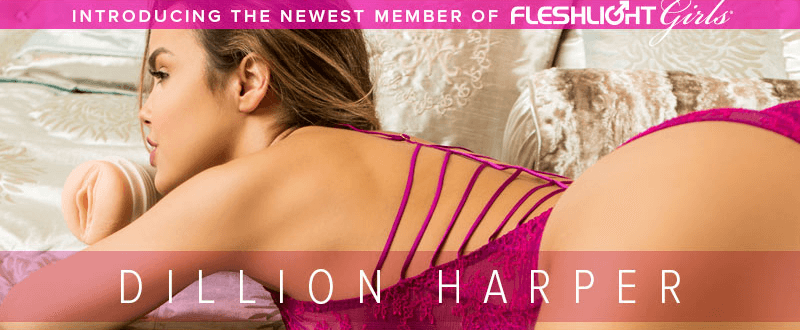 Dillion Harper newest member of Fleshlight Girls