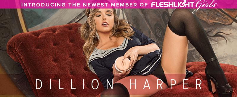Dillion Harper newest member of Fleshlight Girls