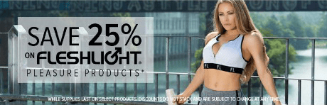 Fleshlight Pleasure products 25% off