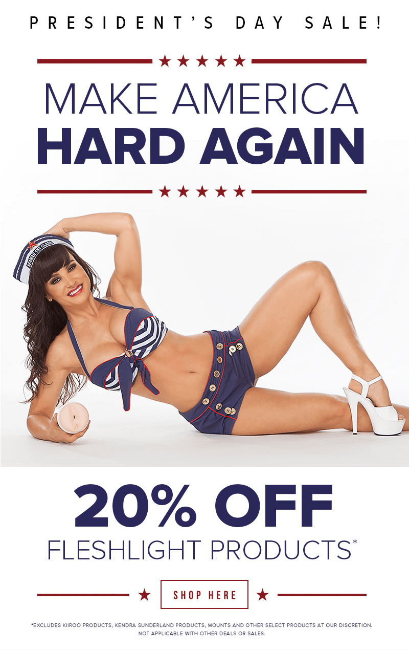 Fleshlight President's Day Sale