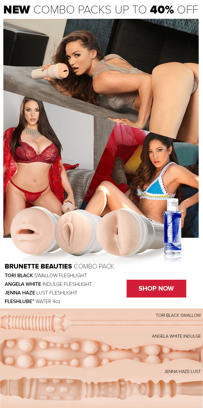 Fleshlight Brunnete Beauties Combo Pack