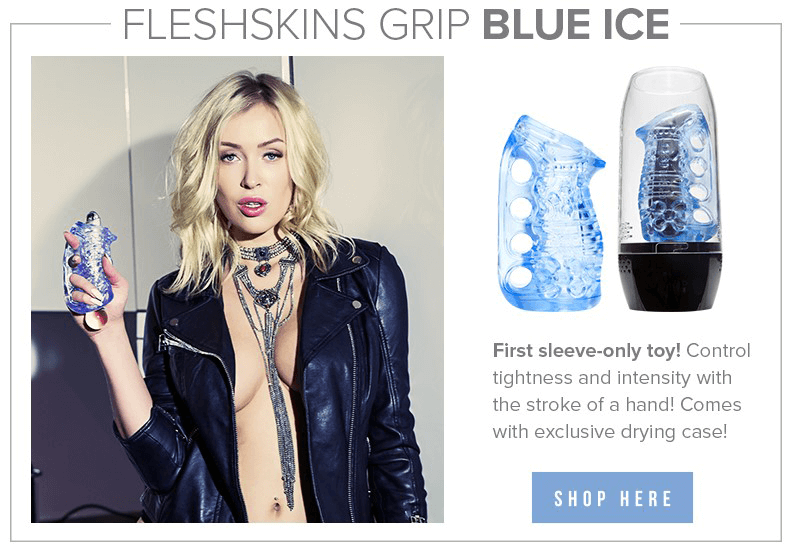Fleshlight FleshSkins Grip Blue Ice