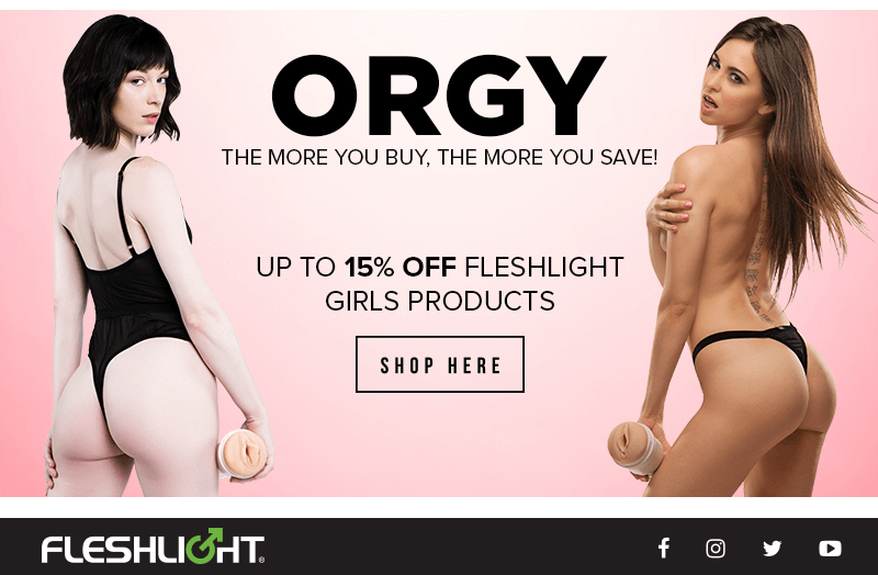 15 percent off Fleshlight Girls Orgy