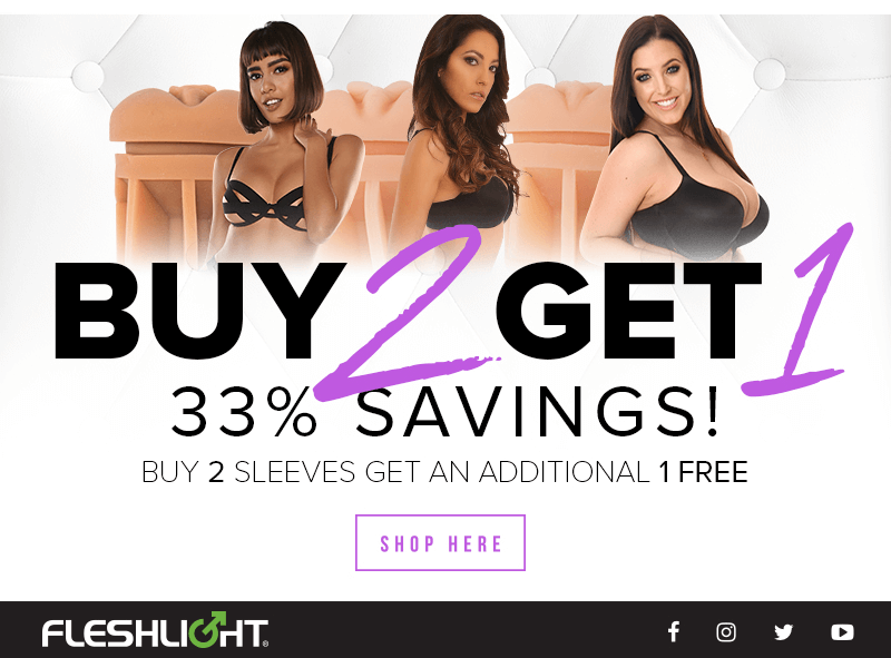 Buy 2 get 1 Free Fleshlight Sleeves