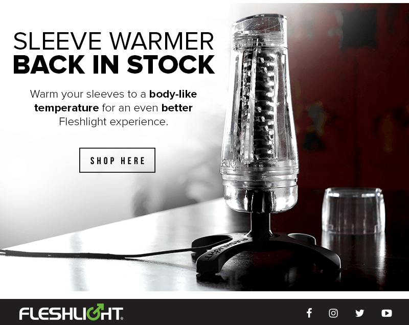 Fleshlight Sleeve Warmer - Back in Stock