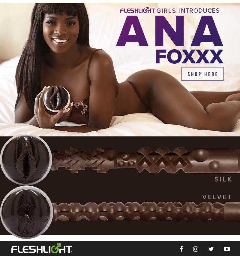 New Fleshlight Girl Ana Foxxx - Silk and Velvet textures