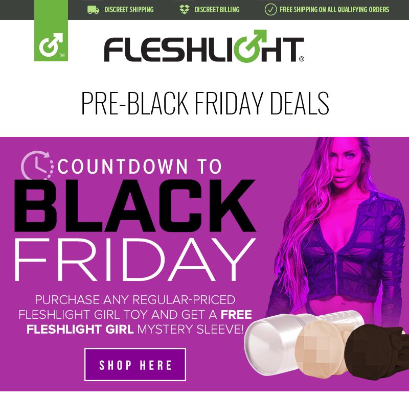 Free Fleshlight Girl mystery sleeve with Fleshlight Girl purchase