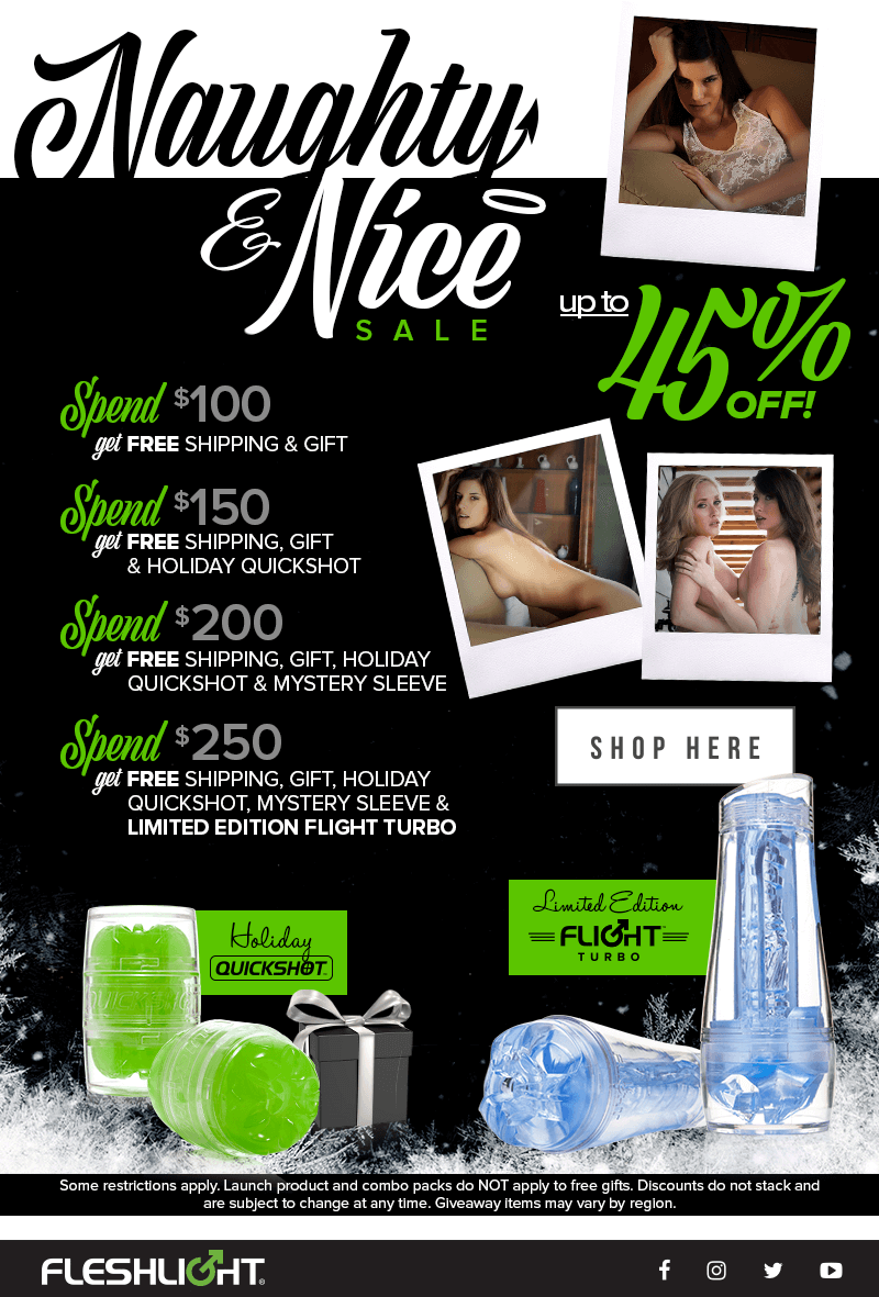 Fleshlight Naughty & Nice Sale. 45% off.