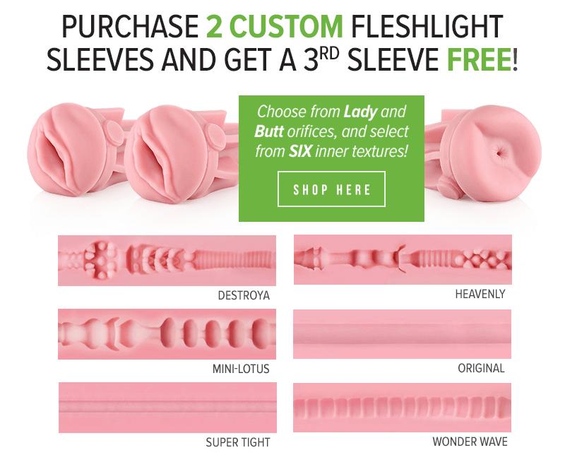 Buy 2 get 1 Free Fleshlight Sleeves