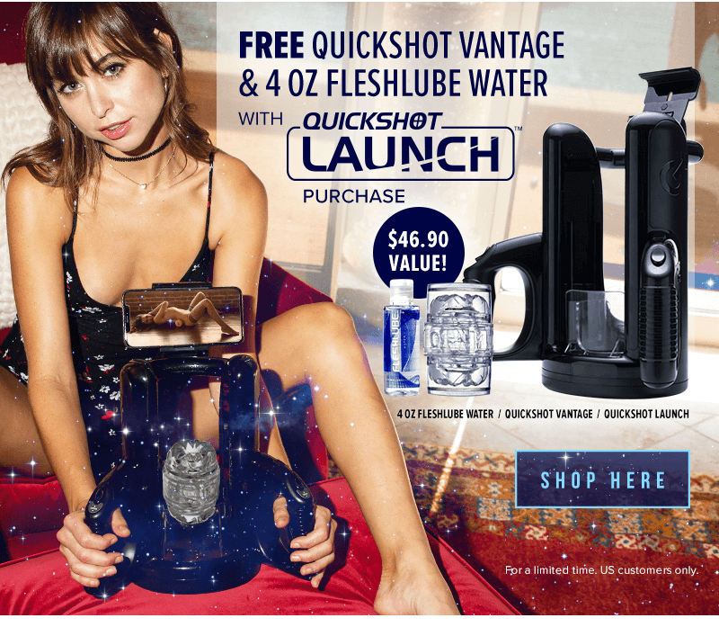 Fleshlight Quickshot Launch Free Quickshot and Lube