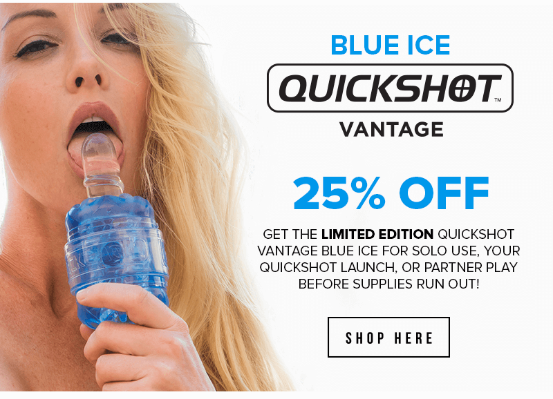 Fleshlight Quickshot Vantage Blue Ice
