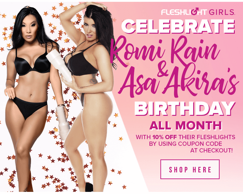 Fleshlight Girls - Romi Rain and Asa Akira Birthday Sale