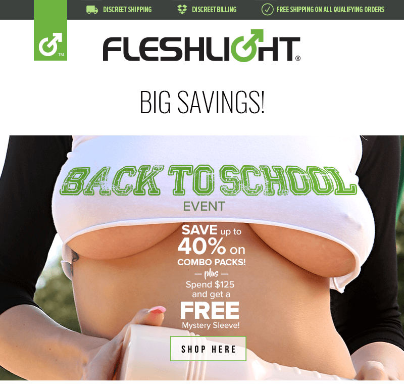 Fleshlight Back to School Event