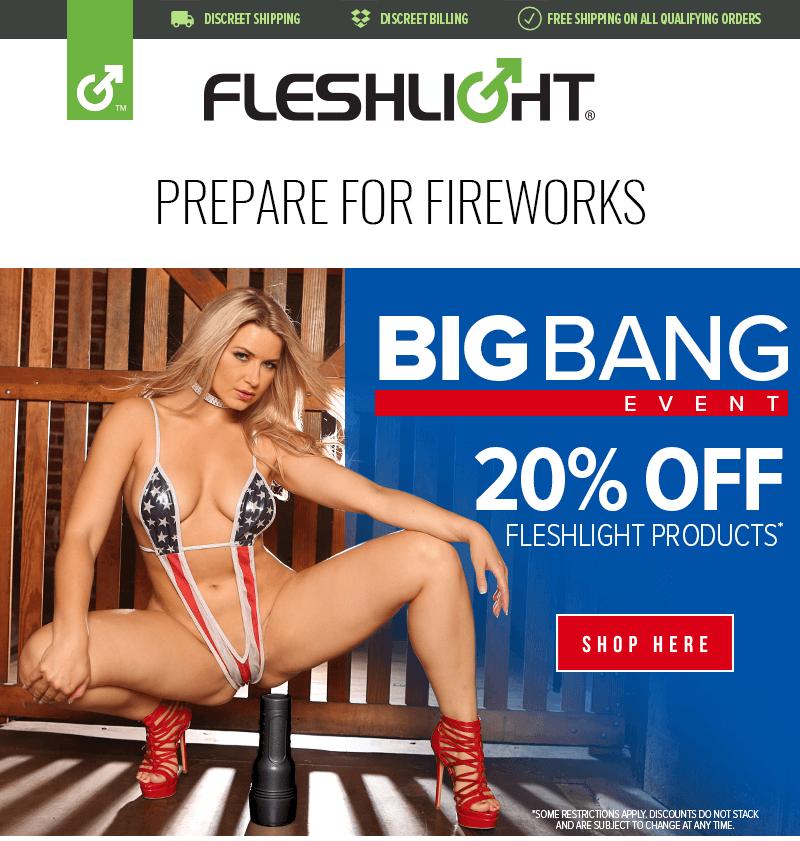 Fleshlight Big Bang Sales Event