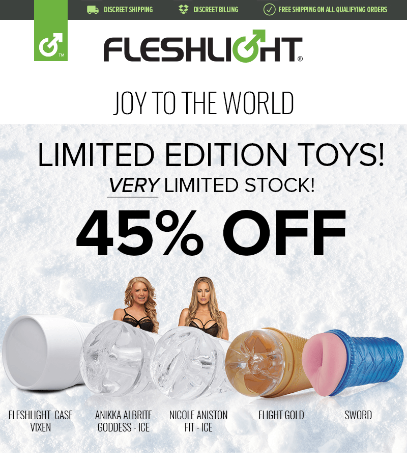 Fleshlight Limited Edition toys 45% off