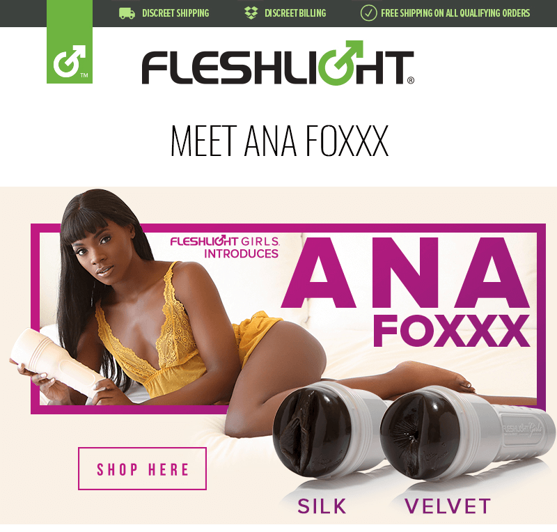 Introducing New Fleshlight Girl Ana Foxxx - Silk and Velvet textures
