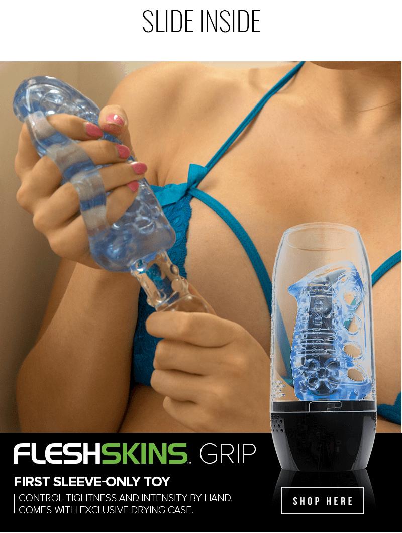 New toy Fleshlight FleshSkins Grip - You control the tightness and intensity