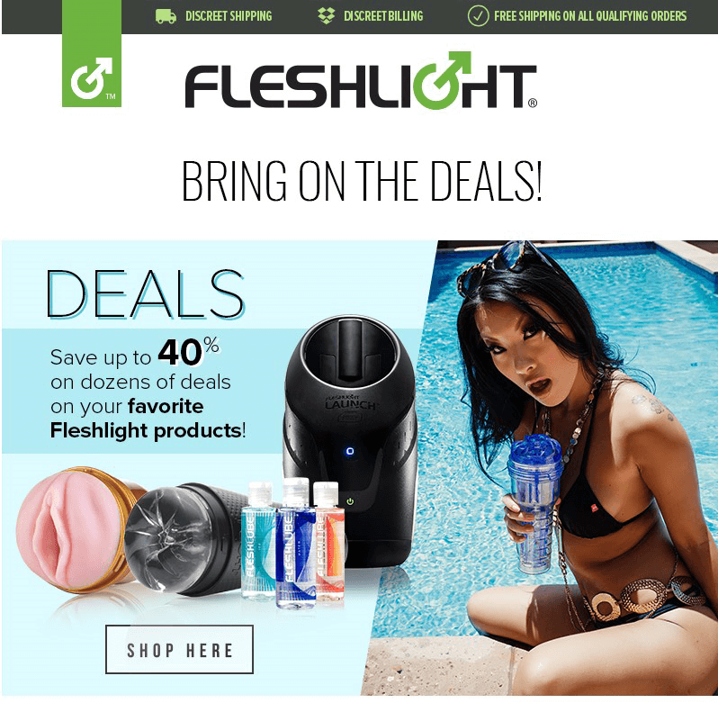 Up to 40% off select Fleshlight Products