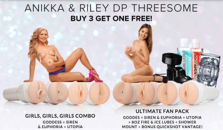 Anikka Albrite and Riley Reid | Girls, Girls, Girls! and Ultimte Fan Fleshlight Combo Pack