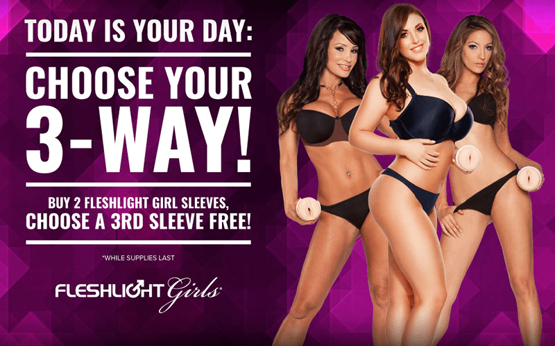 Buy 2 get 1 Free Fleshlight Girls Sleeves - 33% Savings