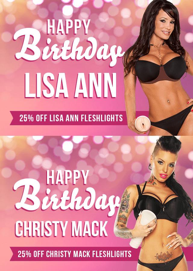 Celebrate Fleshlight Girls Lisa Ann and Christy Mack Birthday