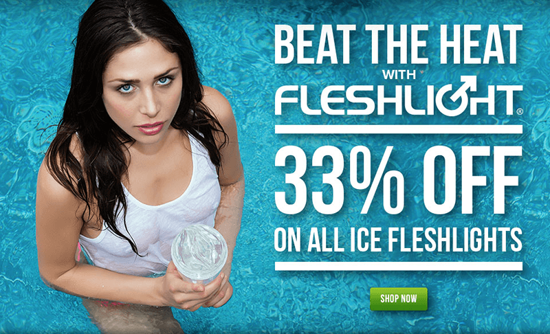 Fleshlight Beat the Heat Sale - 33% off all Ice Fleshlights