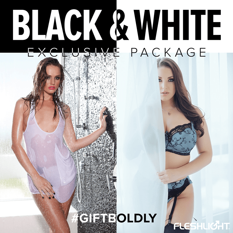 Fleshlight Black & White Package