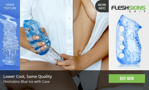 Fleshlight FleshSkins Blue Ice with Case - Top Selling Product