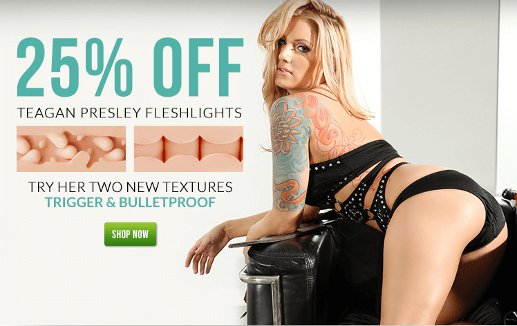 Fleshlight Girl Teagan Presley Trigger and Bulletproof textures