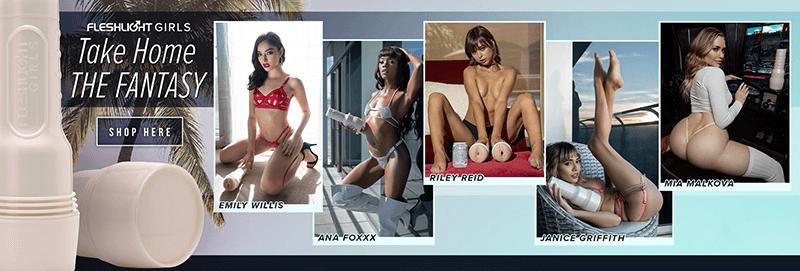Fleshlight Girls - Take Home the Fantasy! Get Inside Your Favorite Adult Porn Stars!