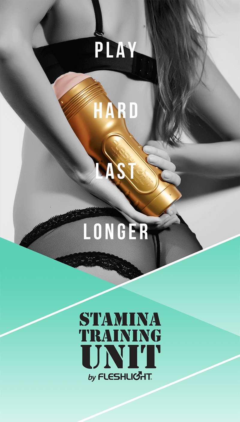 Fleshlight Stamina Training Unit. Play Hard, Last Longer.
