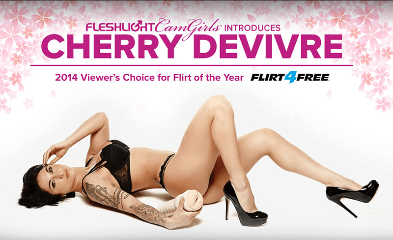 Introducing New Fleshlight Cam Girls Cherry Devivre Luxe texture