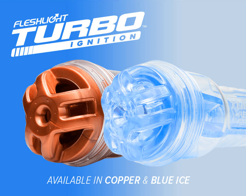 New Fleshlight Turbo Ignition Copper and Blue Ice