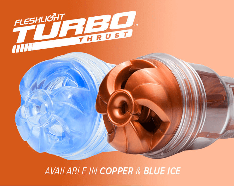 New Fleshlight Turbo Thrust Copper and Blue Ice