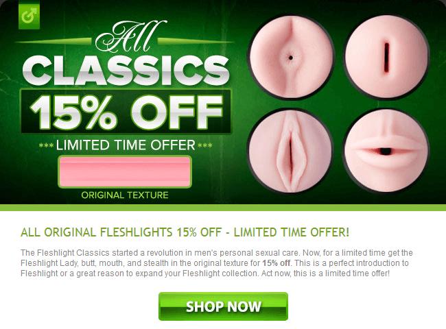 All Original Classic Fleshlight 15% Off
