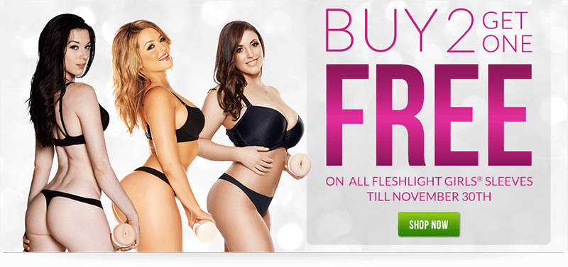 Buy 2 Fleshlight Girl Sleeves and Get 1 Free