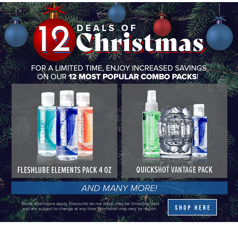 Fleshlight 12 Deals of Christmas