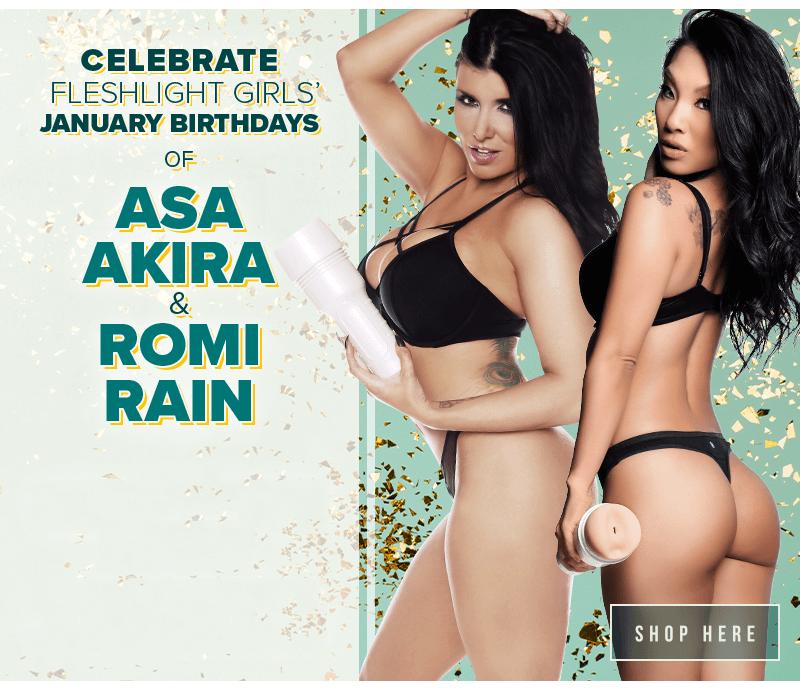 Celebrate Fleshlight Girls December Birthdays. Romi Rain and Asa Akira.