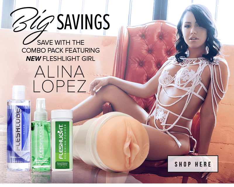 New Fleshlight Girl Alina Lopez. Rose and Blush textures combo pack savings.